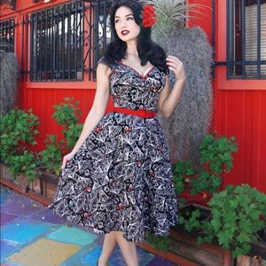Pinup Couture Heidi Dress - Large- Spanish Fan